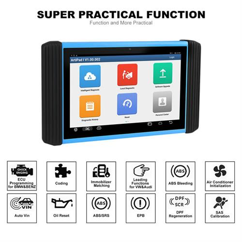 ArtiPad I Tablet OBDII Scan Tool Support ECU Coding and